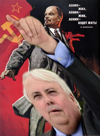 Clive Palmer, Hero of the Left