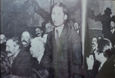 Ngugen Aiquoc at the 1920 Tours conference which saw the foundation of the French Communist Party.
