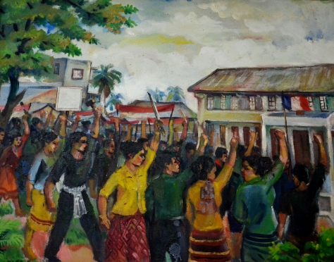The uprising of the people in Vientiane prefecture in September 1945.