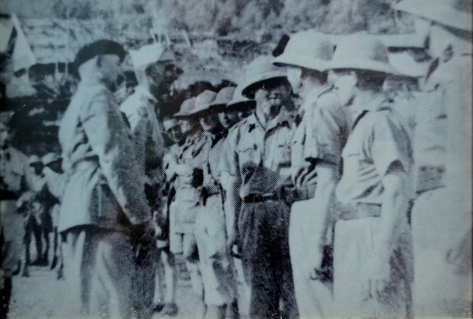 French colonial soldiers sent to take various districts in northern Laos.
