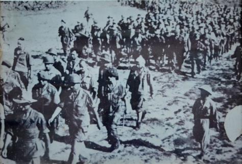 French soldiers, prisoners of war from DienBienPhu in March 1954.