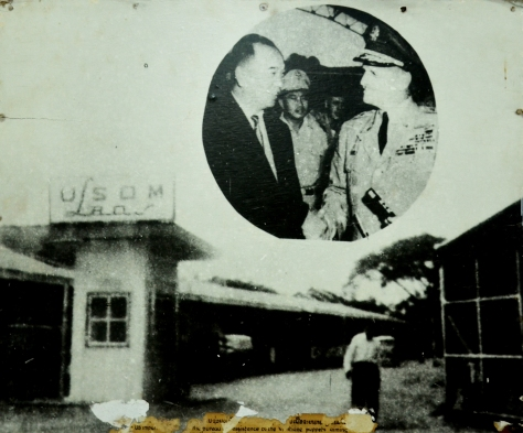 The US imperialist set up bureau for assistance to the Vientiane puippes aiming at expanding the war in laos.