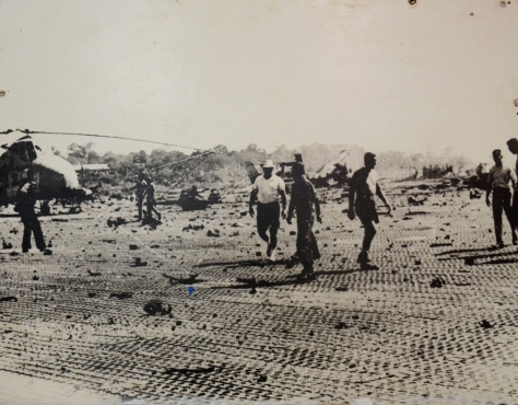 Seno airfield, one of the US imperialist air base destroyed by our army